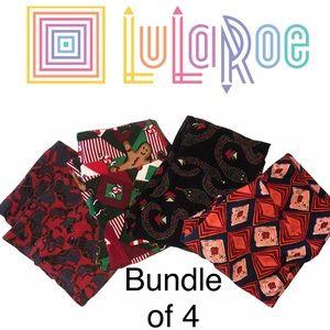 LuLaRoe Leggings one Bundle of 4 Pair OS
